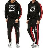 KUNYi Chándales para Hombre Jordan 23# Sudadera con Capucha Entrenamiento Jogging para Correr Gimnasio Deportes Top Mujer Pantalones De Chándal Traje Suelto Pulóver