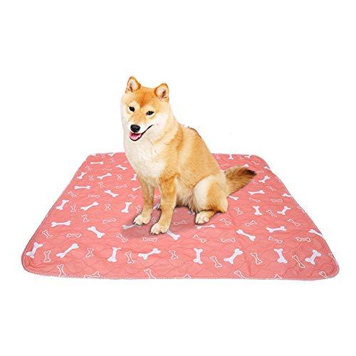 Smandy Pet Pee Pad, 3 Tamaños Reutilizable Impermeable Cachorro Perro Gato Pee Cama Cojín Alfombra Lavable Pet Trainging Pads Super Absorbente Perro Orina Estera(80 × 90cm)