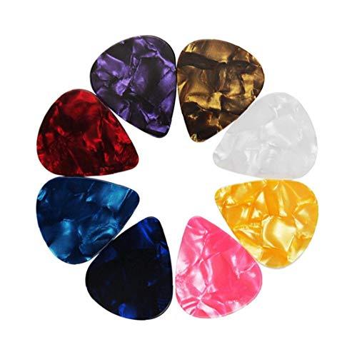 linjunddd 12 Pack Plektren Pearloid - Celluloid 0,46-0,96 Stilvolles Geschenk Für Mann-Frauen