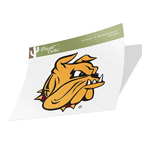 University of Minnesota Duluth UMD Bulldogs Vinyl Decal Laptop Water Bottle Car Scrapbook (Sticker - 00001)