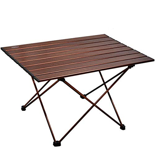 Mesa de camping portátil grande Mesa plegable para exteriores Aluminio enrollable ligero para escritorio interior y exterior con bolsa de transporte para picnic, barbacoa, pesca, senderismo y viajes
