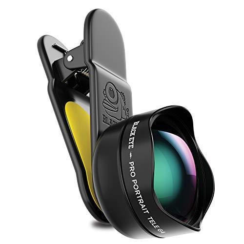 BLACK EYE Pro Portrait Tele G4 Tele-Objektiv, optimiert für neuere Handys (2,5X näher am Motiv, Clip-Befestigung, Antireflex-Beschichtung, Funktioniert auch mit MultiCams & Frontkamera) - G4TE001