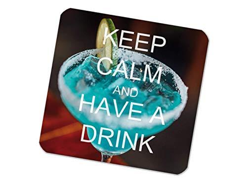 Untersetzer bedruckt 6er Set Keep Calm Cocktail
