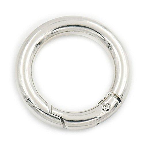 5 piezas 25 mm gatillo muelle puerta 1 pulgada hebilla Clip llavero abierto O anillo correas de cincha bolsa, metal, Plateado, 25 mm