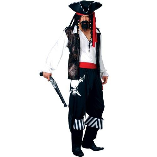 Freibeuter Pirat Verkleidung für Männer Halloween Karneval Fasching Kostüm M