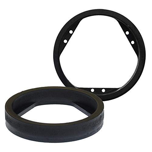 [1 Paar] 165 mm MDF Lautsprecherringe kompatibel mit Mitsubishi ASX, Lancer, Mirage, Outlander   passend für Vordertür & Hintertür   Farbe: schwarz