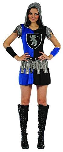Blaues Ritter-Kostüm für Damen