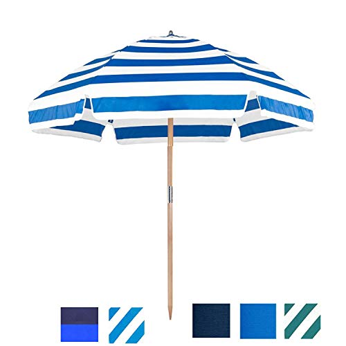Frankford Umbrella Shade Star 6.5 ft. Steel Beach Umbrellas with...