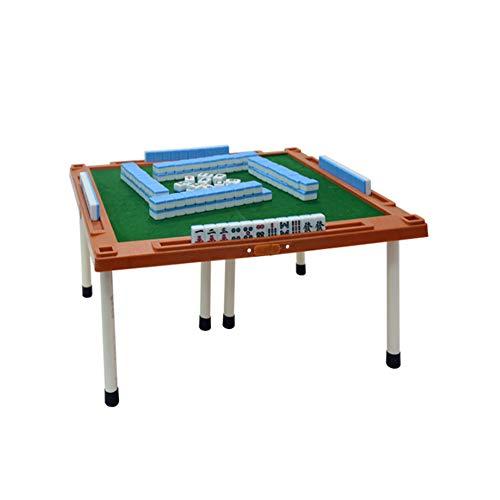 Chinese Mahjong Mini Mahjong Bordspel Vouwen Met Voet Portable Travel 144 Sheets