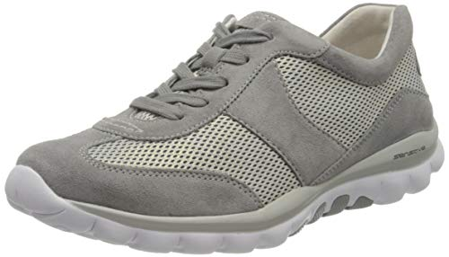 Gabor Shoes Damen Rollingsoft Sneaker, Grau (Silber/Grau 39), 37 EU
