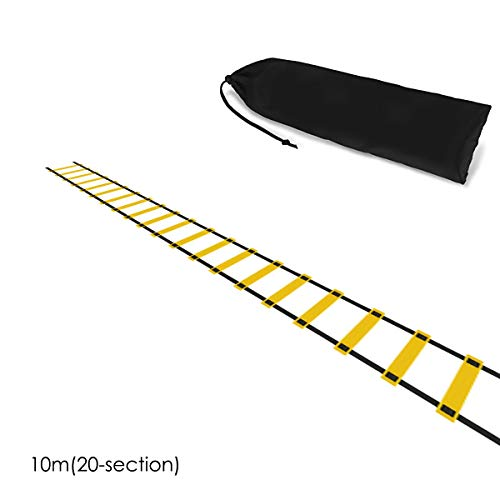 Tianhaik beweeglijkheid snelheid training opvouwbare ladder Sport Fitness Tool 5m 7m 10m voetbal, voetbal, sporttraining + opbergtas