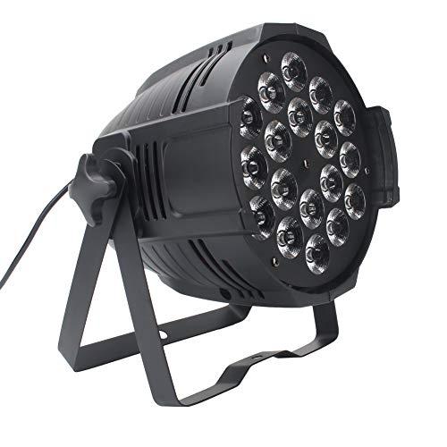 UKing Par LED,18x15W 4 in 1 RGBW LED Luce di Scena con Vocale, Master-Slave,DMX 512 Modalità di controllo,8 Canali, Luci Palco Angolo del fascio: 25°, 45°, 60°