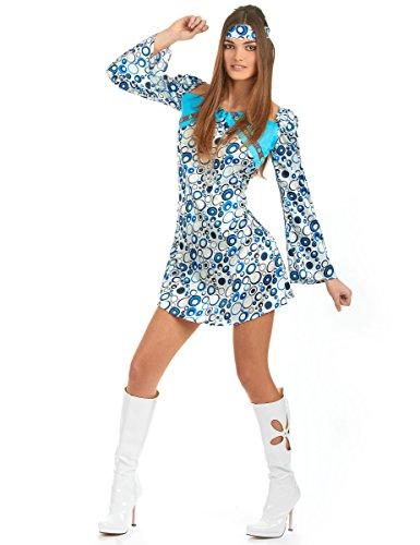 Atosa - Disfraz de hippie para mujer, talla M