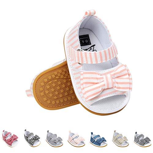 Sandalias de Bebé Niña con Bowknot, Zapatos de Verano para Infantil Pequeños con Suela Blanda
