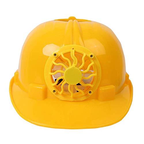 Milageto Casco De Seguridad Sombrero De Trabajo Con Ventilador De Energía - Amarillo, unico 🔥