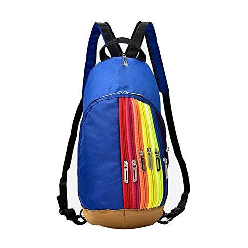 Yi-xir Diseño de moda exterior de montañismo bolsa de hombro nueva mujer bolsa de deporte exterior bolsa de deporte bolsa de arco iris mochila mochila infantil ligera y duradera (color: 05, tamaño: A)