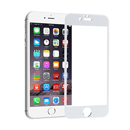 unicorn 6d white curved tempered glass full screen clear transparent edge to edge full screen coverage fit screen protector 9h hardness fingerprint resistant scratch protection for iphone 5 5s se 4 inch gorilla display