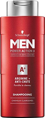Schwarzkopf Arginin/Anti-Stoping Shampoo für Herren, 250 ml, 3 Stück