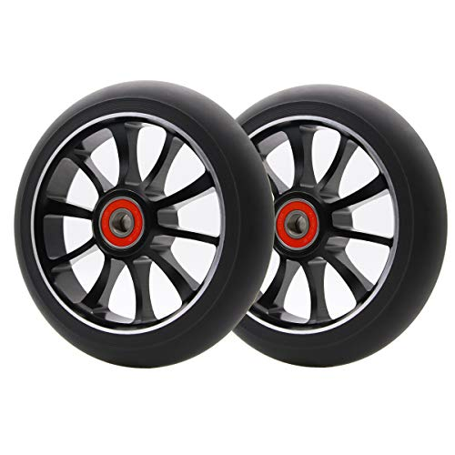 Z-FIRST 2Pcs 120mm Pro Scooter Wheels with ABEC 9 Bearings