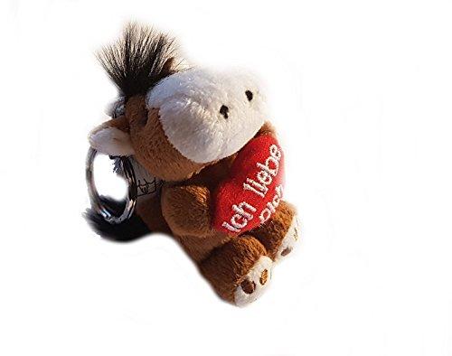Familienkalender Häst nyckelring Jag älskar dig söt mjuk leksak med rött hjärta i handen | kärlek | present | Leende | Kiss | Hjärta | Dekoration | Hjärta | Hjärta | Häst