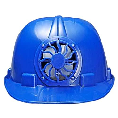Casco de seguridad industrial con ventilador de refrigeración solar trabajador de construcción Hard Hat Hat Blue