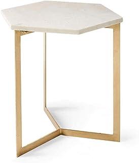 WALNUTA Creative Petit Appartement Salon Table Basse Simple Côté Plusieurs marbre Table Basse Combinaison Hexagonal Petit ...