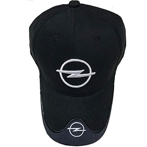 Interestingcar Baseball Cap Adjustable Men Women Car Logo Black Baseball Cap Adjustable Hat (Fit Opel)