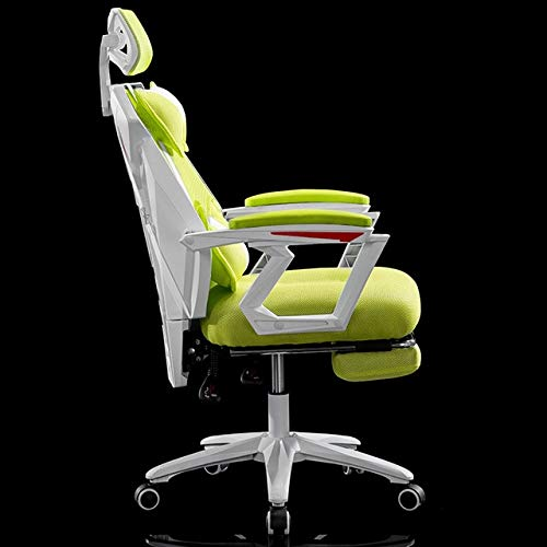 SJVR Gaming Chair, ergonomic office chair Computer Chair, gaming chair for kids Gaming Gamer Live Chair Boss Office Executive Lacework Chairs Wheel Mesh Footrest Ergonomics Household With foot pads