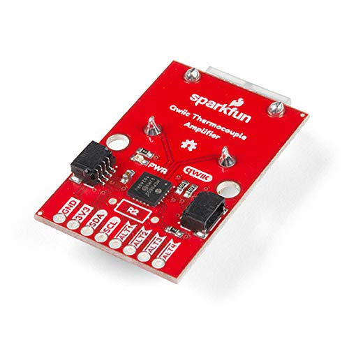 SparkFun Qwiic Thermocouple Amplifier - MCP9600 (PCC Connector)-K-Type 2 Temperature sensors 4 programmable Temperature alerts ADDR Jumper for Variable I2C addresses 4-pin JST Polarized Connector
