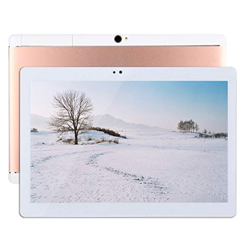 YEYOUCAI Tablet PC con Llamada telefónica 4G, 10.1 Pulgadas, 2GB + 32GB, Android 7.0 MTK6737 Quad Core 1.3GHz, Dual SIM, WiFi, GPS, BT, OTG, con Funda de Cuero