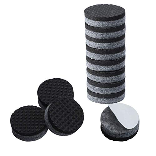 DealMux 12 pz Felt Pads Round 2 pollici Mobili Grippers Self Stick antiscivolo pad per Cabinet Chair Leg Protector Grigio