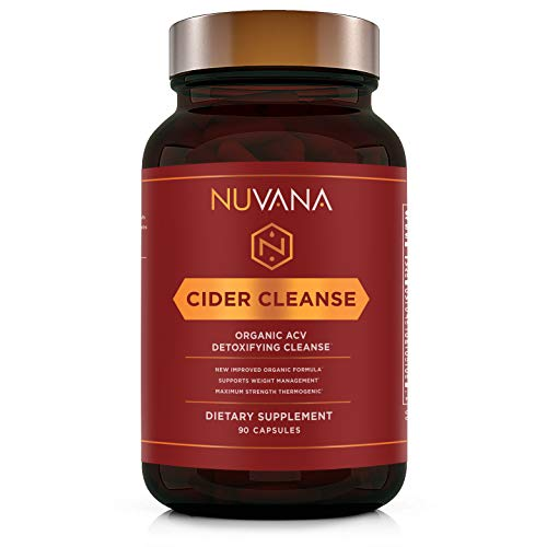 Cider Cleanse | Organic Apple Cider Vinegar with Ginger, Cinnamon, Cayenne Pepper and Vitamin C | Max Strength Thermogenic for Improved Digestion and Detox | 90 Vegan Capsules