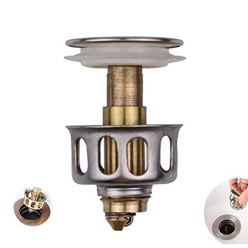 BYBDLZJDJB 2020 New Universal Waschbecken Bounce Drain Filter Waschbecken Abflussfilter Waschbecken Knopf Abflussanschluss Für Küche Badezimmer