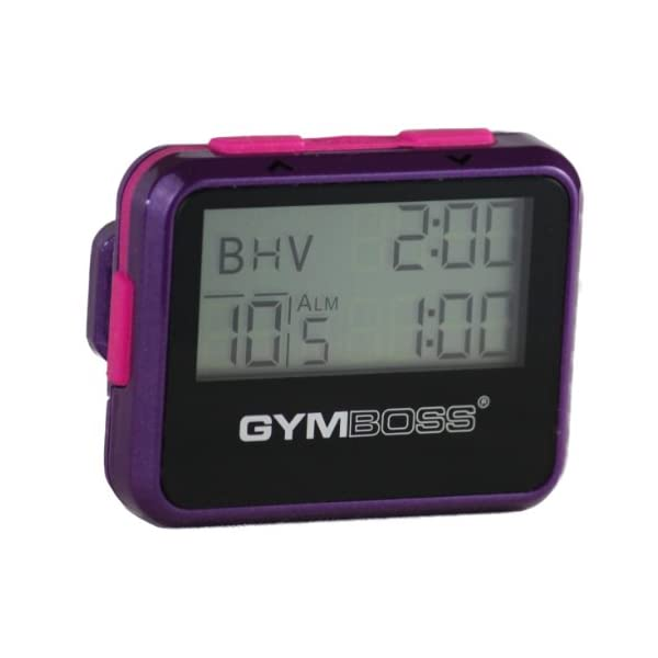 Gymboss Interval Timer and Stopwatch – Violet/Pink Metallic Gloss