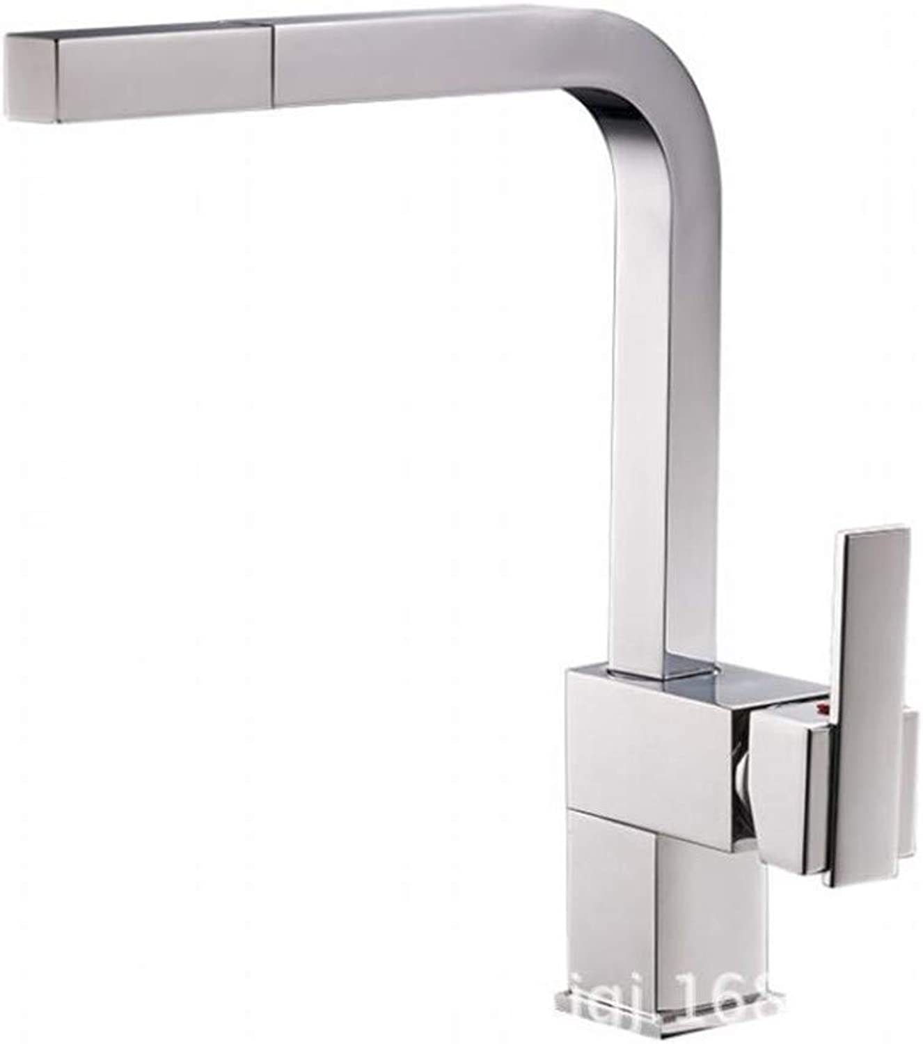 Bathroom Sink Basin Lever Mixer Tap Copper Kitchen Faucet Pull Cold and Hot Dishwash Basin Faucet Can redate