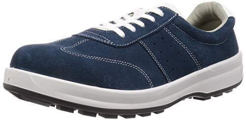 [シモン] 安全靴 短靴 JIS規格 耐滑 耐油 快適 軽量 スタンダード ベロア SS11BV 青 26.0 cm 3E