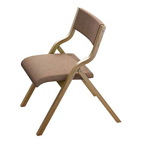 JIEER-C vrijetijdsstoel klapstoel van massief hout eetkamerstoel rugleuning bureaustoel stof vrije tijd stoel duurzaam T3
