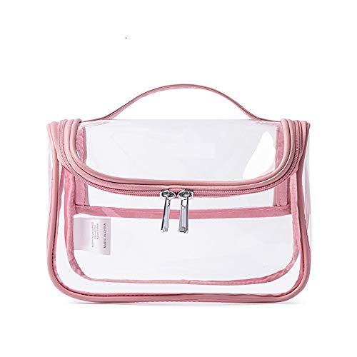 Cosmetic Bag Waterproof Make up Bag Make up Pouch Toiletry Wash Bags Portable Zipper Travel Makeup Organizer Pouch for Home Business Trip Bathroom Organizing Multifunction/pink / 21x14.5CM