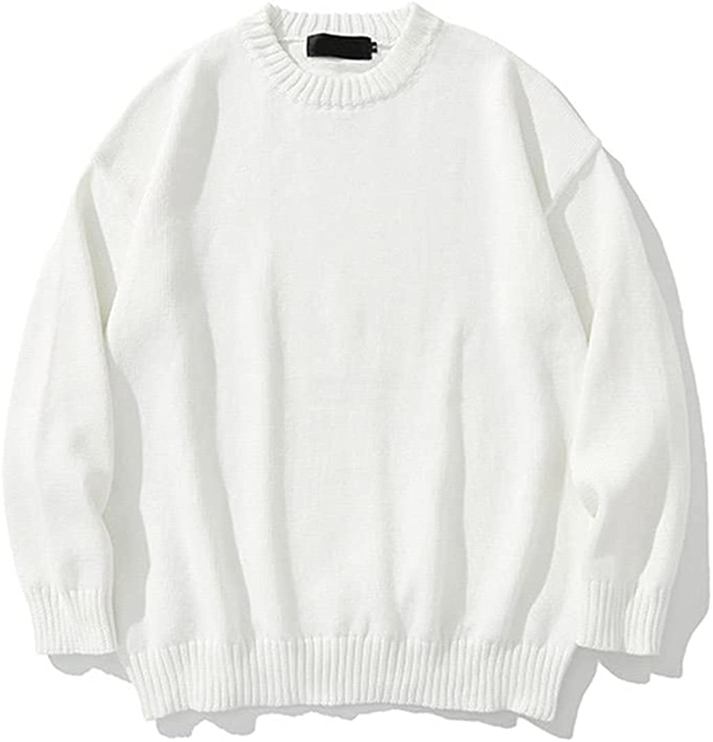 Knitted Sweater Men Streetwear Winter Classic Sweater Solid Pullover Sweater