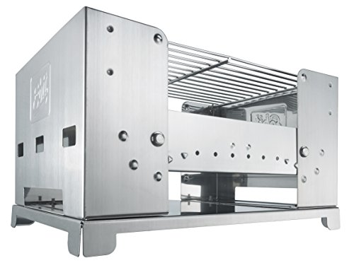 41yPtzg29aL - Esbit Klappbarer Koffergrill BBQ-Box