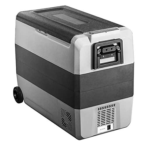 Bewinch Nevera Refrigerador Portátil para Automóviles De 60L, Congelador para Camping con Zona De Almacenamiento Dual, -4 ℉ ~ 50 ℉, Frigorífico Congelador DC 12 / 24V, Puerto USB