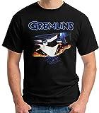 Desconocido 35mm - Camiseta Hombre Gremlins - Cine 80's - EGB- Negro - Talla m