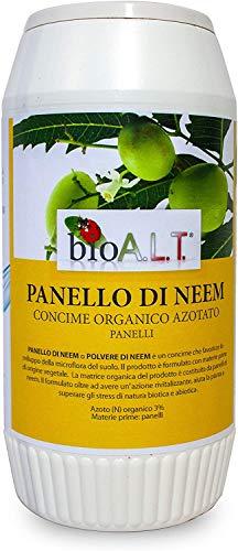 bio A.L.T Polvo de nim Panel de Neem Barrera Insecticida Natural Vegetal Desacostumbrante Insectos Terriculos, Parasis, Revitaliza Plantas y Tierra 500 g