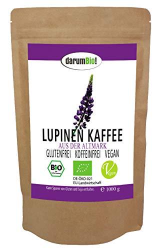 Bio Lupinenkaffee aus DEUTSCHLAND im Sparpack I eigener Anbau I koffeinfrei, glutenfrei, vegan, frische Röstung, hoch edel (1 kg)