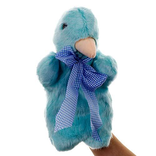 Metermall Home Grote Handpop Dier Knuffels Baby Doek Educatieve Cognitie Hand Speelgoed Vinger Poppen Marionet duif 25 cm