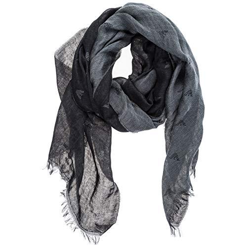 Emporio Armani sciarpa uomo in cotone nero