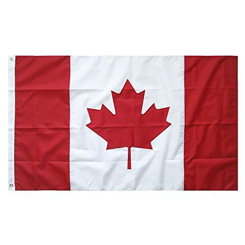 Lixure Kanada Flagge/Fahne Top Qualität Stickerei 150 x 90 cm Nationalflagge Durable 210D Nylon MEHRWEG