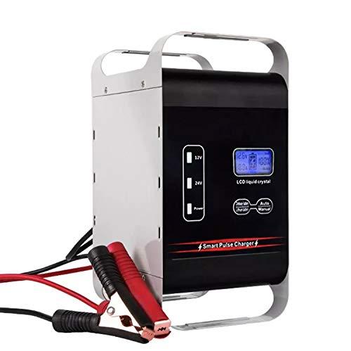CARACHOME 12V / 24V 600W Potente Cargador de batería de Coche Plomo ácido Litio 6A - 400AH Barco Auto Carretilla elevadora celda de Almacenamiento Carga rápida