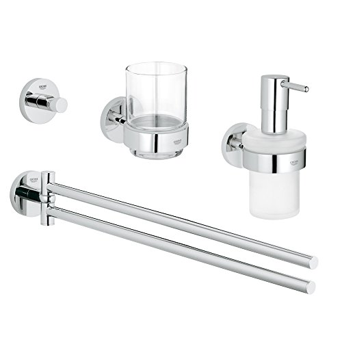 Grohe Bad-Set 4 in 1 Essentials, 1 Stück, 40846001