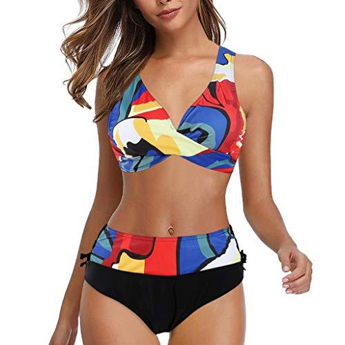 2021 Nuevo Mujer Conjuntos de Bikinis impresión Push Up Trajes de Baño de Tanga Sexy verano Mujer dos piezas Ropa de Playa Conjunto de Bikinis Push up Bikini Tankinis mujer Beachwear Natacion Bañador